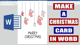 How to make a Christmas Card in Word - (EASILY) 2019