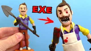 ЛЕПИМ СОСЕДА из игры Hello Neighbor | ПРИВЕТ СОСЕД EXE