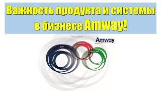 Важность продукта и системы в бизнесе Amway!
