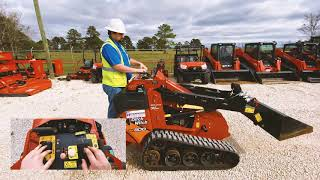 How to operate a Ditch Witch mini skid steer