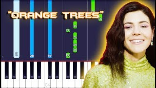 MARINA - Orange Trees Piano Tutorial EASY (Piano Cover)