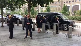 Hillary Clinton appears to faint during