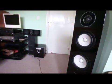 YAMAHA NS-F700, NS-C700 ,YST SW015, RX-V1067  YAMAHA SPEAKERS and AV SOUND TEST audiophile