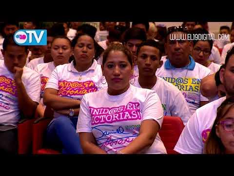 Compañera Rosario durante conmemoración del 84 aniversario del tránsito a la inmortalidad del General Sandino