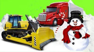 Мультики про #машинки - #Бульдозер Грузовик и Снеговики  Машины Помощники Мультфильмы для мальчиков
