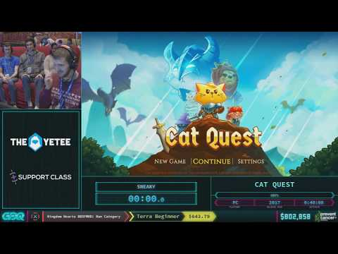 Cat Quest by SNeaky in 34:48 - AGDQ 2018 - Part 123
