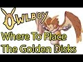 How to find all the Pillar locations OWLBOY Placing the Golden disks Ancient Coins