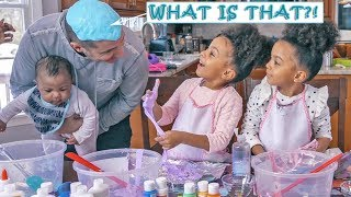 MCCLURE TWINS TAKE OVER THE CHANNEL! WE MAKE SLIME  😜