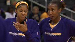 Lisa Leslie and Candace Parker Reflect On Their In Game Dunks - dooclip.me