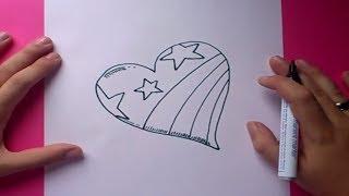 Como dibujar un corazon paso a paso 3   How to draw a heart 3