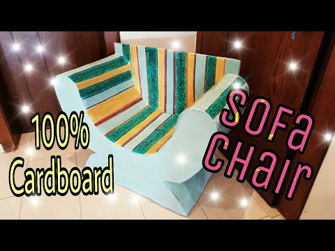 DIY: Cardboard Furniture/ Cardboard Chair/Sofa, how to make :