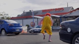 Ronald McDonald Tastes Burger King