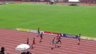 100m men heat 1 -  Asian Junior 2016
