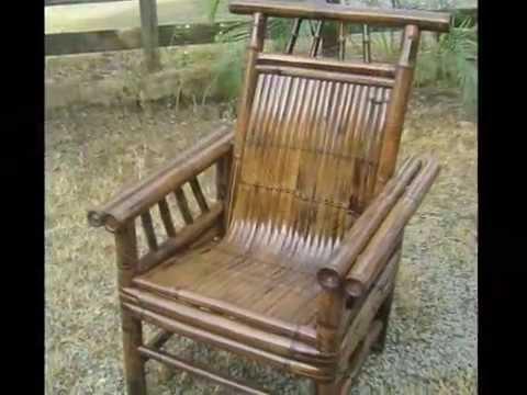 Muebles de bambú fino