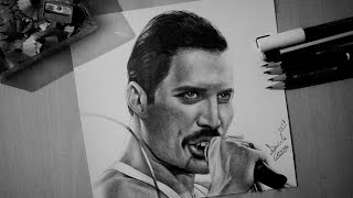 Drawing Freddie Mercury from