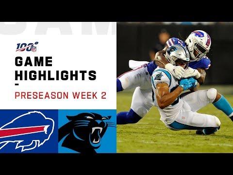 Bills vs. Panthers Preseason Week 2 Highlights | NFL 2019