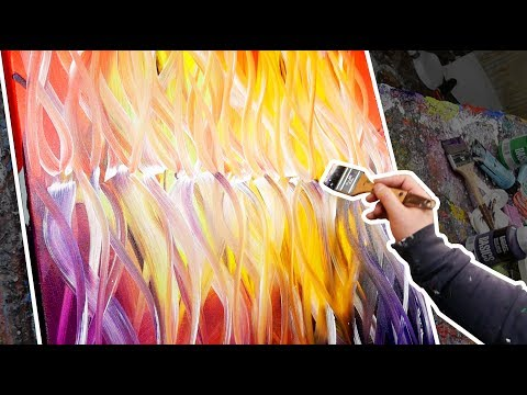 Creation of an abstract painting with warm colors | Collapse | John Beckley