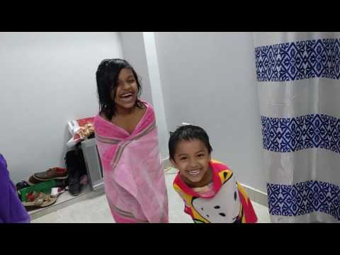 Kids coming after bath