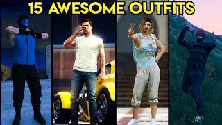 GTA Online 15 AWESOME OUTFITS! (The Greaser, A Ninja, Clifford's Clone & More)