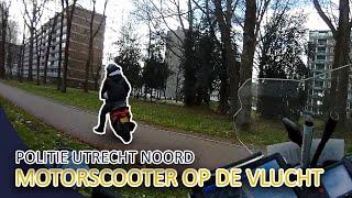 Achtervolging motorscooter door politie Utrecht Noord.