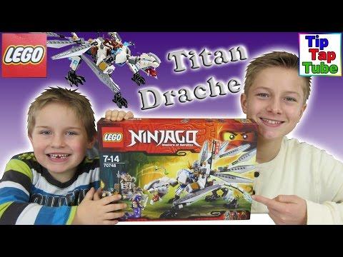 Lego Ninjago 70748 Titandrache Unboxing Video Spielzeug auspacken aufbauen spielen Kinderkanal