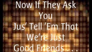 Michael Jackson Ft. Stevie Wonder - Just Good Friends. (Lyrics).