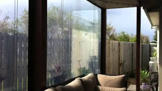 Clear PVC Cord Pulley Awnings Lennox Head