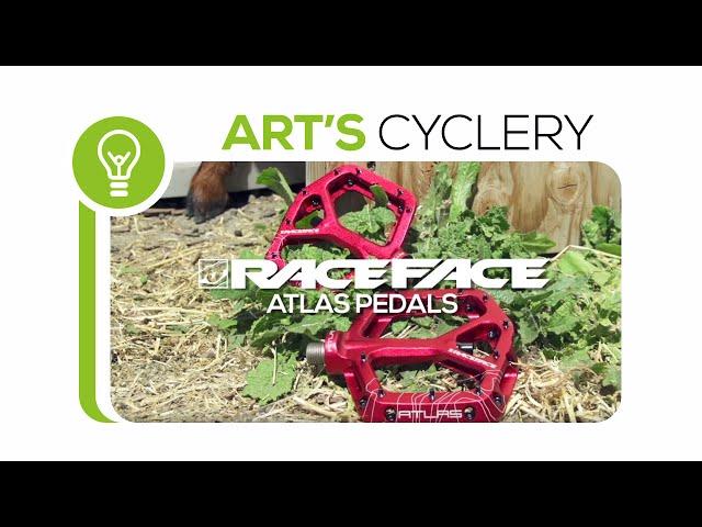 Видео Педали Race Face High, Atlas, red