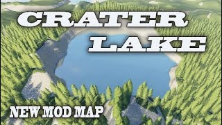 """NEW MOD MAP (Console!) """"CRATER LAKE"""" Farming Simulator 19 PS4 MAP TOUR (Review)."""