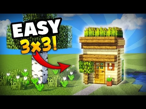 minecraft how to make the smallest house you can make in survival minecraft project