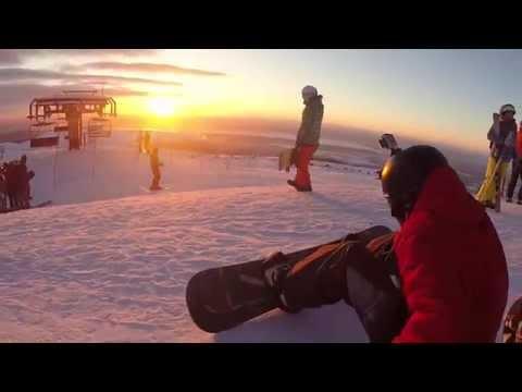 Видео: Видео горнолыжного курорта Большой Вудьявр (Айкуайвенчорр)-Кировск в Мурманская область