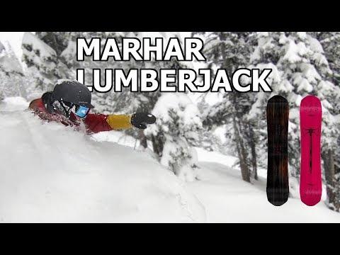 Marhar Lumberjack Snowboard Review in Jackson Hole