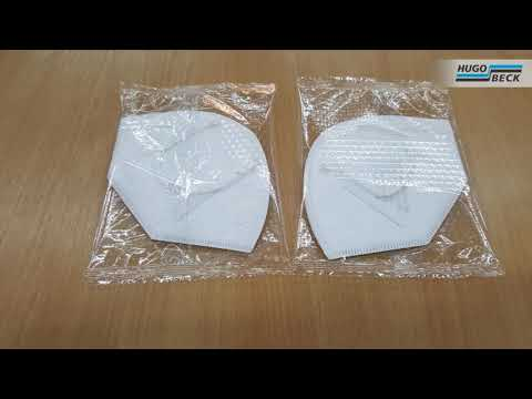 FFP2 face masks in flowpack packaging