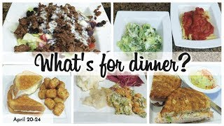 WHAT'S FOR DINNER | EASY DINNERS | COOK WITH ME  | APRIL 20-24