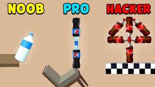 NOOB vs PRO vs HACKER - Bottle Flip 3D