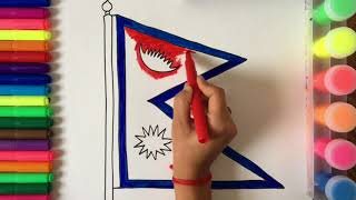 How To Draw And Colour National Flag Of Nepal For Children