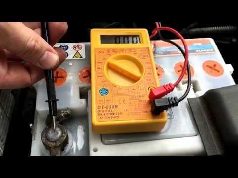 PKW Batterie Test mit Multimeter Startbatterie Autobatterie prüfen Volvo V70 Anleitung