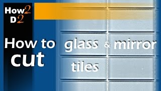 How to cut mirror glass tile Tool for cutting glass or mirror tiles