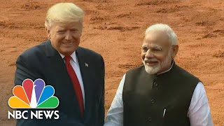 Watch live: President Trump holds talks with Prime Minister Modi of India