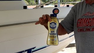How to Clean Boat and Get Rid of Water stains (Less than $2)- Barkeepers Friend