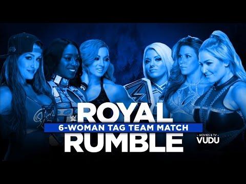 720pHD WWE Royal Rumble KickOff Show 2017 Six Womens Tag Team Match