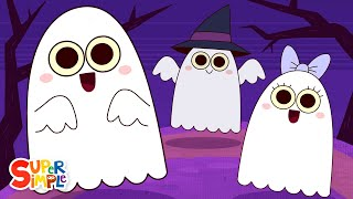 Five Little Ghosts | Halloween Song for Kids | Super Simple Songs