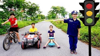 Kids Go To School | Hacona With Best Friends learn Police And In traffic The Children