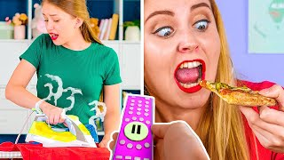 THE BEST PAUSE CHALLENGE FOR 24 HOURS || Funny Prank Wars by 123 GO! GOLD