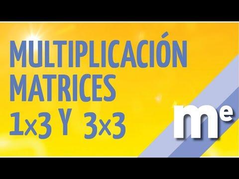 Multiplicacion de matrices 1x3 y 3x3