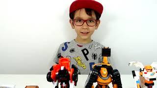 Тоботы в Траве -  игры для мальчиков! Тоботы Трансформеры игрушки для детей. Мультики Тоботы вперед!