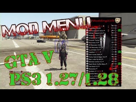 How to download a mod loader in GTA5 online with 25+ menus inside 1.27/1.28 PS3