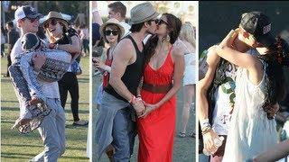 Нина Добрев и Йен Сомерхолдер, Nina Dobrev and Ian Somerhalder Kiss as Star Couples Get Sweet at Coachella!