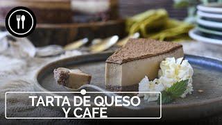 Una tarta de queso y café sin horno que nos tiene enganchados