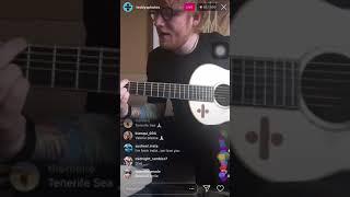 Ed Sheeran Performing Supermarket Flowers Instagram Live - 30 August 2018
